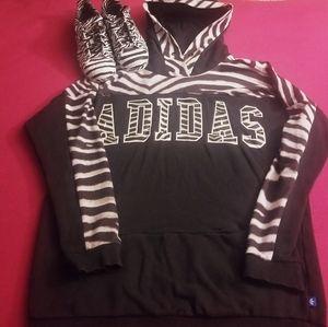 Adidas hoodie/ matching shoes